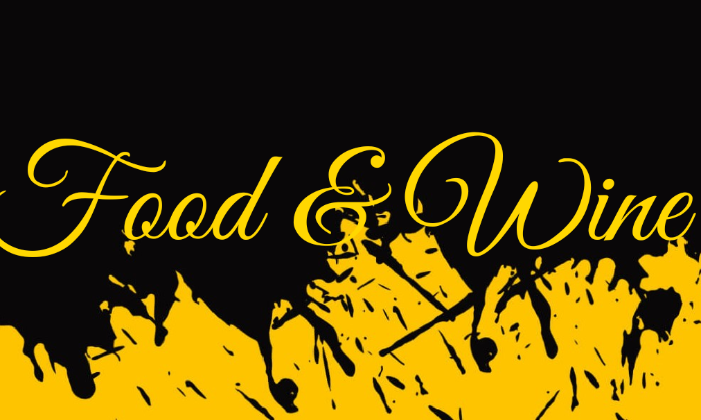 Food and wine banner